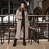 Трендовое удлиненное зимнее пальто Торонто мокко, фото 6