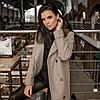 Трендовое удлиненное зимнее пальто Торонто мокко, фото 7