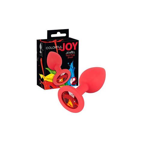 Анальная пробка с украшением Colorful Joy Jewel Small, фото 2