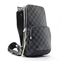 Сумка-рюкзак через плече, слінг екокожа коричневий Louis Vuitton 41719