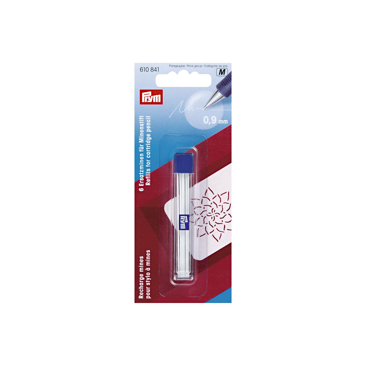 Запасные грифели для механического карандаша, диаметр 0,9 мм Prym 610841