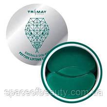 Гідрогелеві ліфтинг-патчі зі зміїним пептидом TRIMAY Emerald Syn-Ake Peptide Lifting Eye Patch