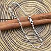 Серебряный браслет родированный Панцирный длина 16 см ширина 2 мм вес серебра 1.6 г, фото 2