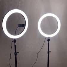 LED cветодиодная лампа 33 см с штативом 2.1 метра для блогеров