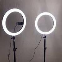 LED cветодиодная лампа 33 см с штативом 2.1 метра для блогеров, фото 1
