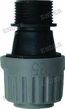 """Конектор Ender для труби 25 мм зовнішня різьба 1"""""""