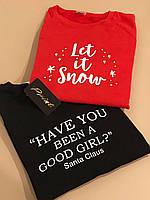 Новогодние парные свитшоты. Одежда для парня и девушки. Let in Snow - HAVE YOU BEEN A GOOD GIRL ? Santa Claus