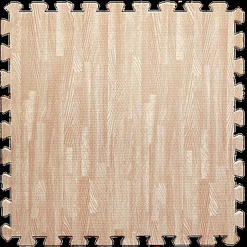 Мягкий пол пазл (60х60х1 см) розовое дерево напольное модульное покрытие