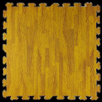 Мягкий пол пазл (60х60х1 см) янтарное дерево напольное модульное покрытие
