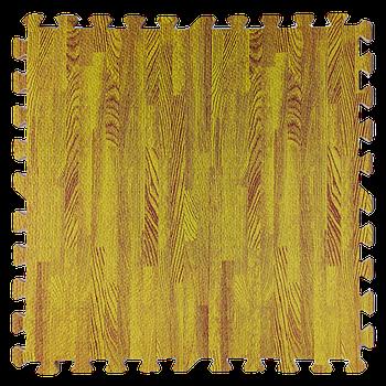 Мягкий пол пазл (60х60х1 см) желтое дерево напольное модульное покрытие