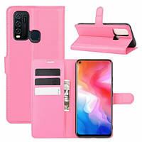 Чехол Fiji Luxury для Vivo Y30 книжка розовый