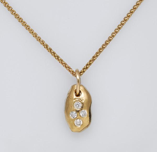 Золотой кулон с бриллиантами С43Л1№24