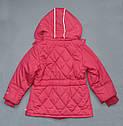 Зимняя куртка для девочки розовая (QuadriFoglio, Польша), фото 3