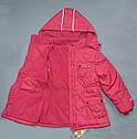 Зимняя куртка для девочки розовая (QuadriFoglio, Польша), фото 6