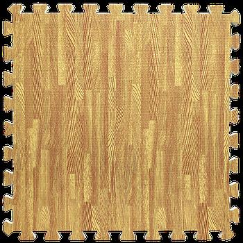 Мягкий пол пазл (60х60х1 см) золотое дерево напольное модульное покрытие