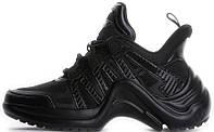 Женские кроссовки Louis Vuitton LV Archlight 'Black' (Луи Витон) черные