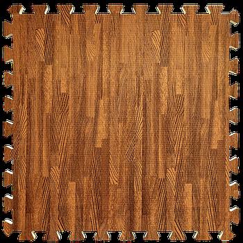 Мягкий пол пазл (60х60х1 см) красное дерево напольное модульное покрытие