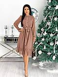 Красиве ніжне жіноче шифонова сукня-міді вільного крою з воланом внизу р. 42-48, фото 2