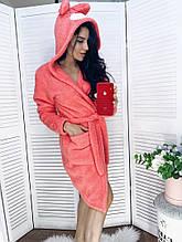 Женский теплый плюшевый халат 42-44,44-46,46-48,48-50