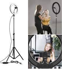 Кольцевая Led лампа со штативом 45 см для селфи