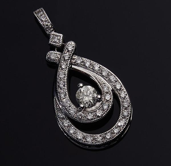 Золотой кулон с бриллиантами С43Л1№23