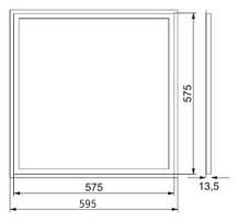 Светодиодный светильник SL-408L 48W 6500K ART-MAGIC SQUARE Код.57876, фото 2