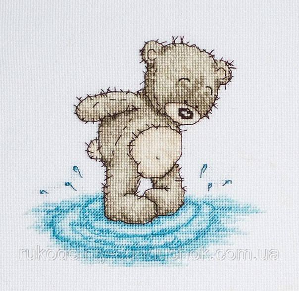 Набор для вышивки крестом Luca-S B1080 Медвежонок Бруно