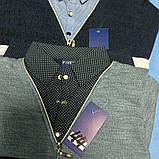 Джемпер- обманка модный красивый нарядный трикотажный для мальчика. Воротник- рубашечная ткань., фото 2