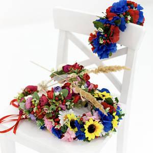 Веночки и обручи с цветами