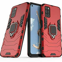 Чехол Ring Armor для Oppo A52 / A72 / A92 Red