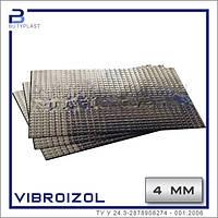 Виброизоляция Виброизол 4 мм, 330х500 мм, фольга 70 мкм, фото 1