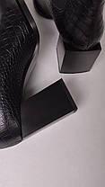 Женские ботильоны кожаные черные, фото 2