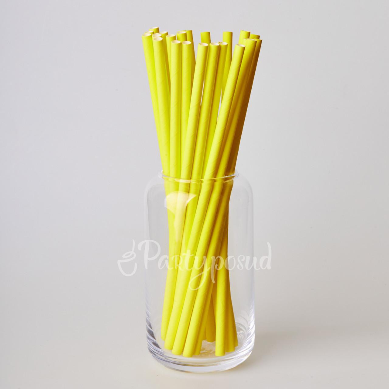 Трубочка бумажная жёлтая