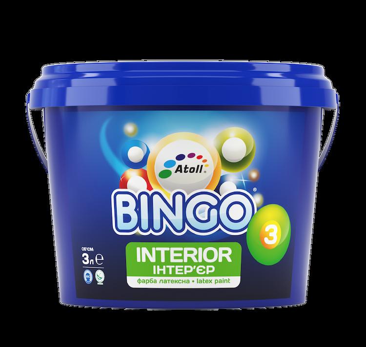 SI-23-10л Bingo 3 краска интерьерная ПРЕМИУМ латексная полноматовая, степень блеска 3