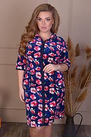 Велюровый женский халат оптом