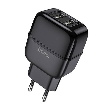 Зарядное устройство HOCO С77A 2.4A 2 Usb Black, фото 2