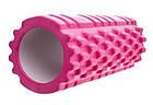Валик для фитнеса, Валик массажный для спины, Ролик для йоги, похудения, Роллер ,Тренажер, Массажер, фото 4