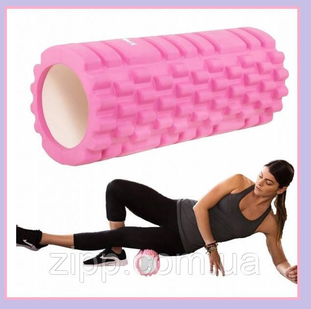 Валик для фитнеса, Валик массажный для спины, Ролик для йоги, похудения, Роллер ,Тренажер, Массажер