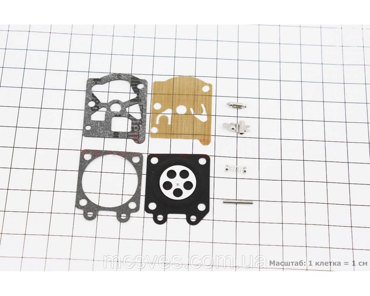 (Китай) Ремонтный комплект карбюратора, 8 деталей Partner-350/351/352/