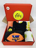 А4 набор - Подарочный Бокс Влад Бумага А 4 Maxi Box Бананка чашка маска