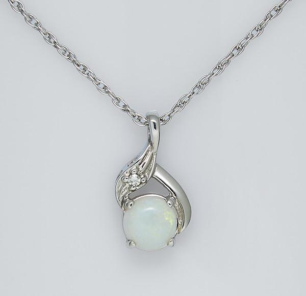 Золотой кулон с опалом и бриллиантами С43Л1№29