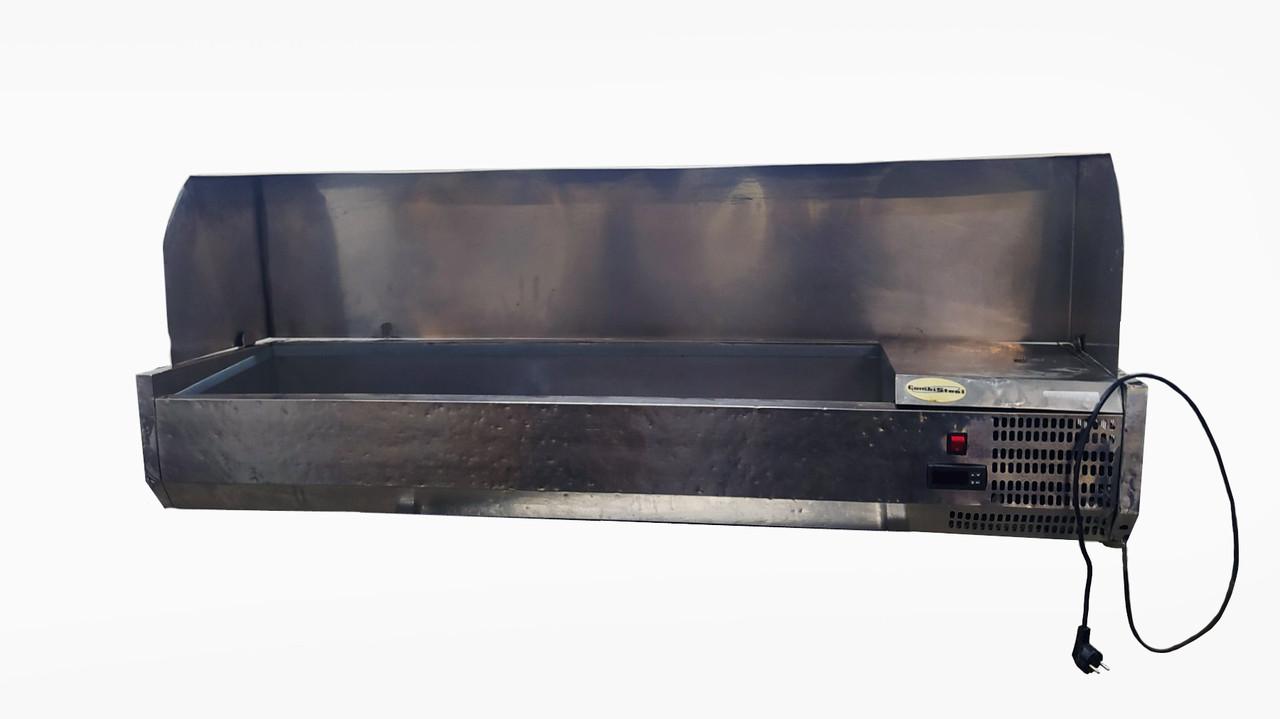Холодильна вітрина для топпінгу,саладетта