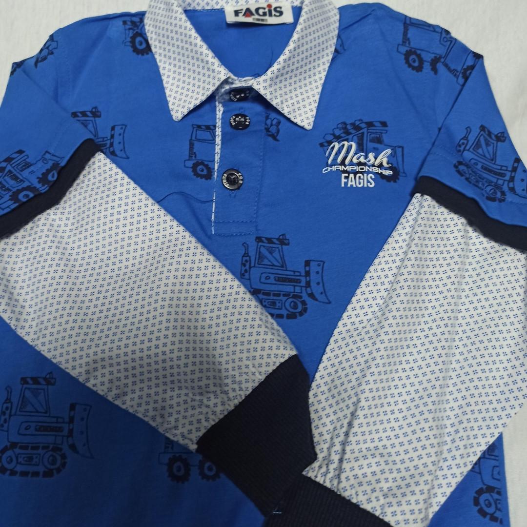 Рубашка модная нарядная красивая  трикотажная для мальчика. Рукав на манжете. Низ рубашки на манжете.