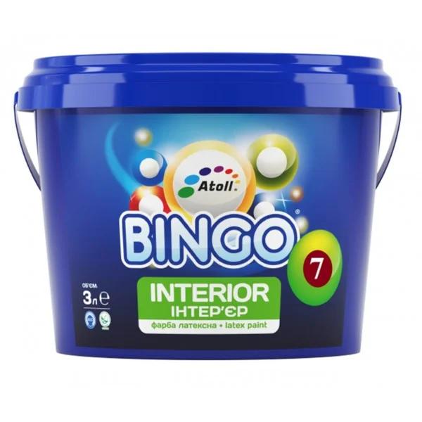 SI-23-10л Bingo 7 краска интерьерная ПРЕМИУМ латексная шелковисто-матовая, степень блеска 7