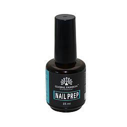 Жидкость Nail Prep от GLOBAL FASHION Professional,15мл