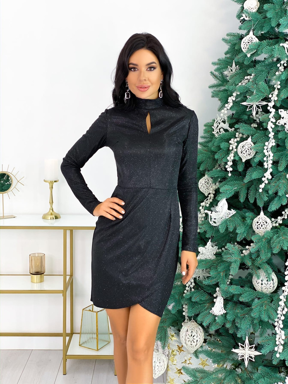 Красиве жіноче довге в'язана сукня сукня 42-46р.(3асцв.)
