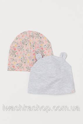 Комплект из двух шапочек на девочку 6 - 12 месяцев, 74 - 80 р., H&M