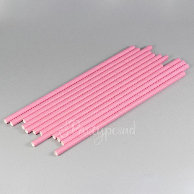 Трубочка бумажная розовая