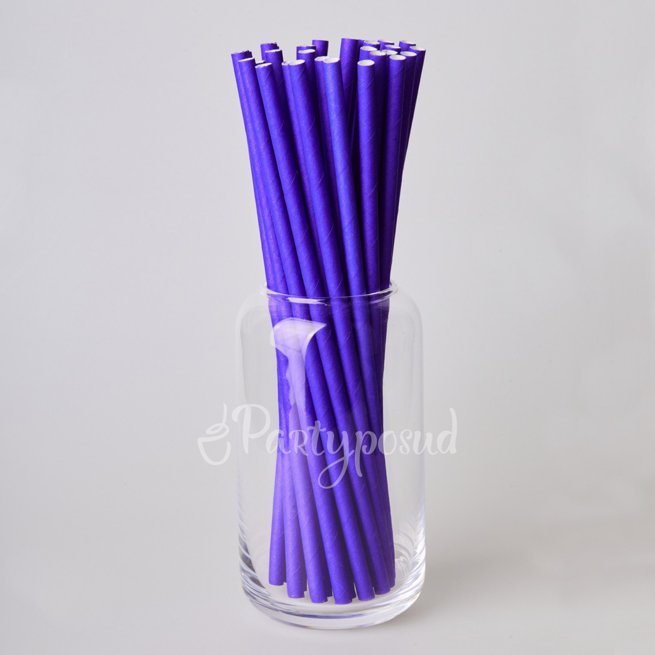 Трубочка бумажная фиолетовая