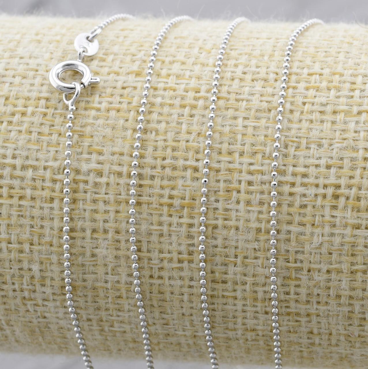 Цепочка Xuping 30196 длина 45 см ширина 1 мм вес 1.3 г позолота Белое золото